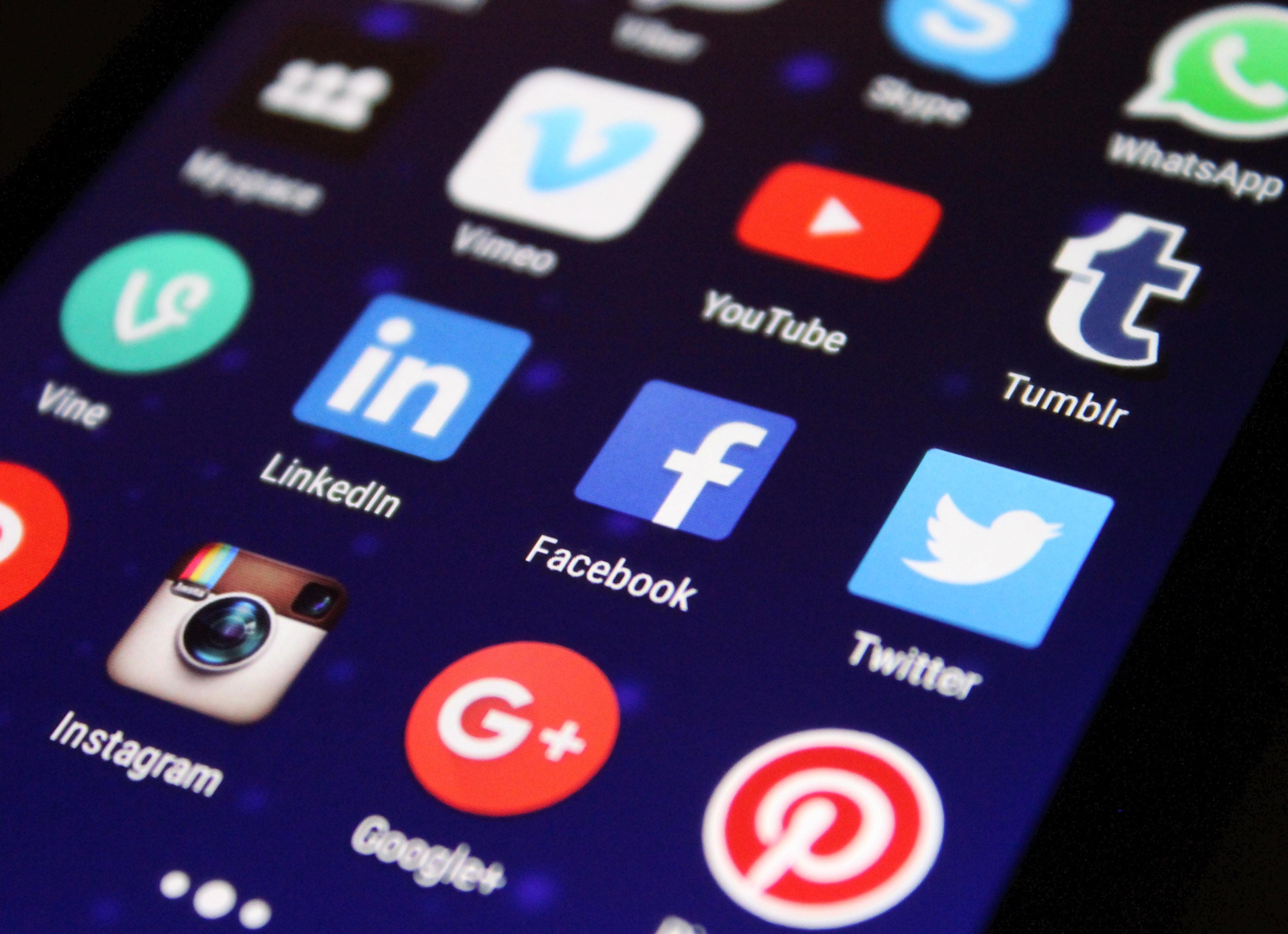 Appar för sociala medier